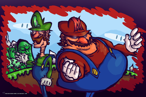 Super Mario Bros by Porcodotranstorno