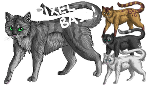 Pixel cat base (PS and SAI) by DodoIcons