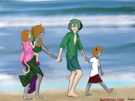 Happy Brithday at the Beach by Final-Resident