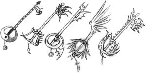 Keyblade sketches by Kitsune-aka-Cettie