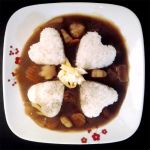 Flowers and Hearts Curry by sake-bento