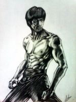Bruce Lee by Souravmad
