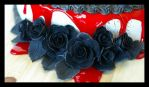 Black Roses Close-up by CakeUpStudio