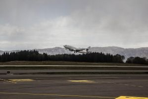 Bergen Airport Takeoff by JRL5