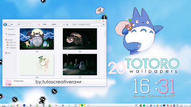 Wallpapers Totoro  by iTutosCreativeRawr