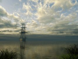 Mooring On The Chesapeake by Buzzzzz