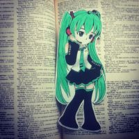 Hatsune Miku Bookmark by satchirakazuki