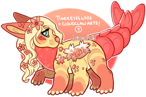 Cherry Blossom Blooming TeaPup by JollyMutt