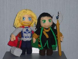 Asgard brothers (Marvel version!) by Swedish-Freak