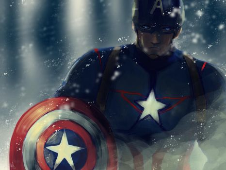 Captain America by sapphire22crown