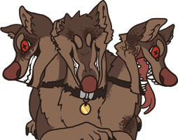 Good Little Cerberus by mute-owl