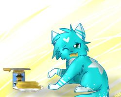 .+:AT:+. Waffles, you say? by Applethecat13