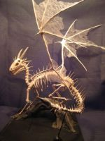 ceramic dragon skeleton by earfox