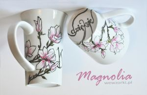 Magnolia Flowers Mug ( plus a tutorial ) by smist