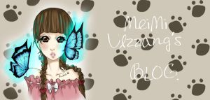 Comission MeiMi's Blog Header by MitsukiHayashi
