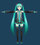 miku model WIP by SuminoChan