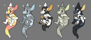 [ADOPTS] Set 1 (0/5) by Mynosylexia