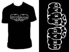 Dead Head Knuckle T by PandaPirate69