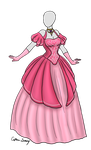 Pink Ball Gown Adoptable SOLD by Captain-Savvy