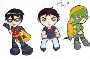 Young Justice Sticker Set 2 by CynicalSniper