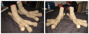Crow Costume Feet WIP 2 by CuriousCreatures