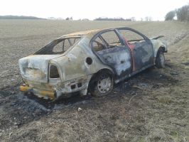 (Stock) Burnt out car 3 by DaddyHoggy