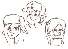 Gravity falls scribbles by Pa-Go