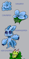 Hydrangeamon Line by Strontium-Chloride