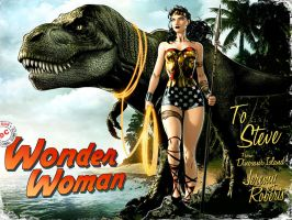 Wonder Woman Dinosaur Island by JPRart