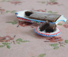 Miniature Dollhouse Brownies by AngieSanz