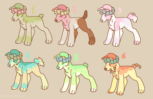 Pastel Puppies for adoption by FourDirtyPaws