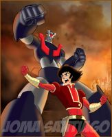 Mazinger Z and Kabuto Koji 2 by joma33