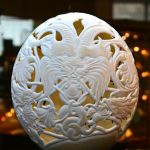 Carved Ostrich egg by konstantinnet
