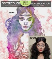 Watercolor Photoshop FREE Action by PsdDude