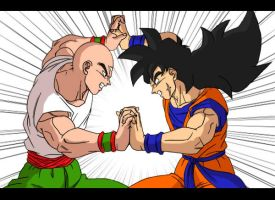 Ten Shin Han VS Yamcha coloreo by David-nator