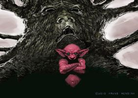 Troll and Tree by FransMensinkArtist