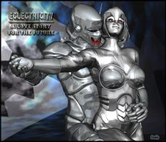 Ultron + Jocasta : Eclectricity by TonyDumont