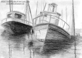 Boats - Life Drawing by Olvium