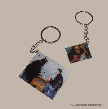 Dylan Dog key chains by jewelryandstuff