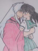 Inuyahsa and Kagome by Scloober