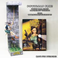 Tomb Raider young Lara Croft papercraft vignette by ninjatoespapercraft