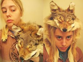 Coyote Headdress by CindarellaPop