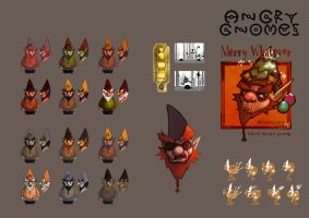 Angry Gnome Concepts by RedPaints