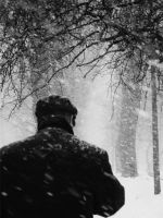 Stranger in park by rusrainbow