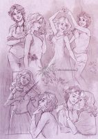 Commission 129b - Dido/Selena sketchpage by Nike-93