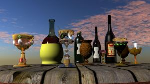 All goblets and bottles by GodRollo