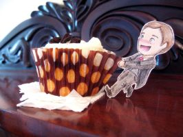 Mycroft loves cake! I by ocean-crystal