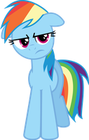 Rainbow Dash is unimpressed by danspy1994