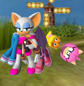 Rouge steal the bodies of Amy Rose and Coco by Argeti