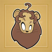 Heads Up Cowardly Lion by HeadsUpStudios